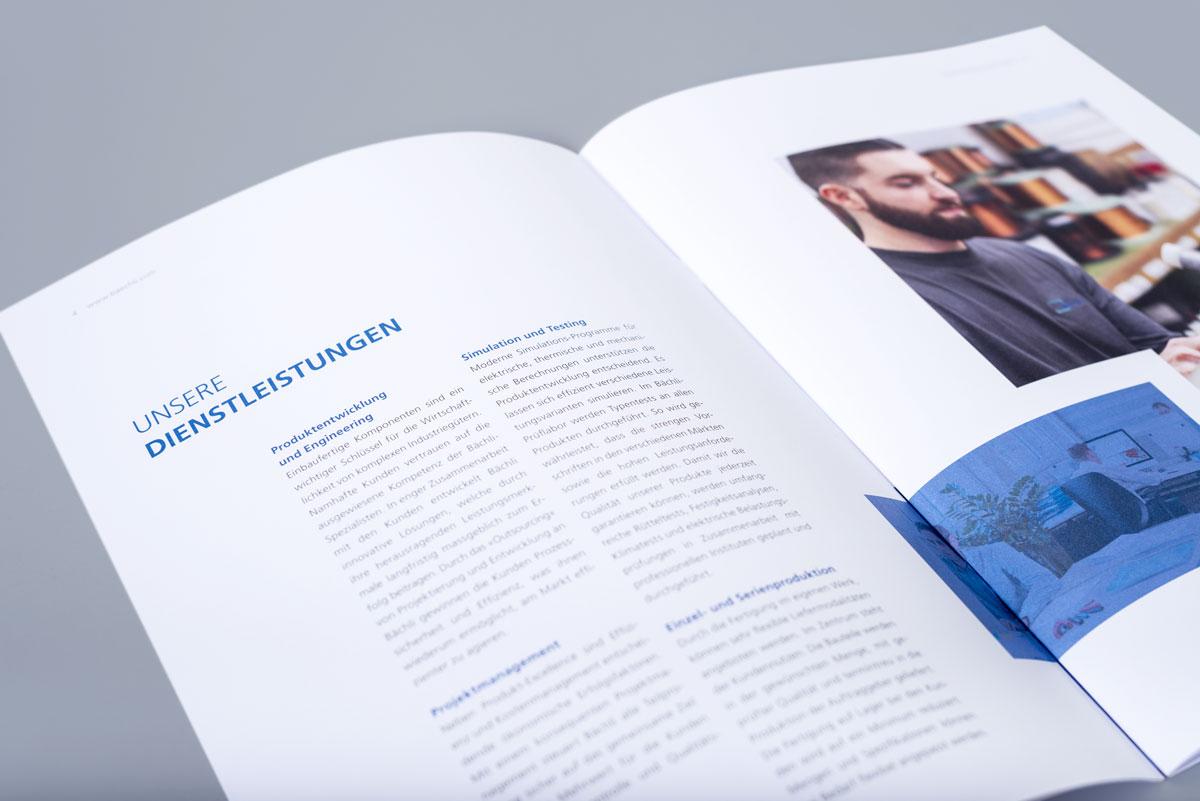 Imagebroschuere von Bächli als Printprodukt