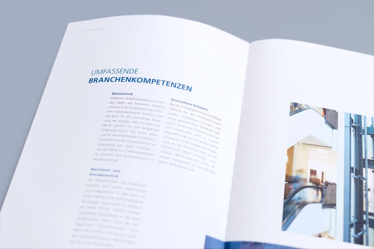 Neu gestaltete Imagebroschüre von Bächli