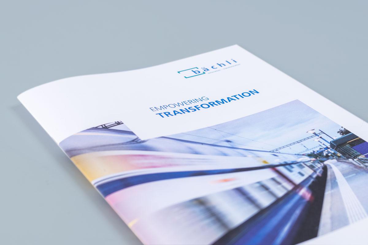 Titelseite der neu gestalteten Imagebroschüre von Bächli