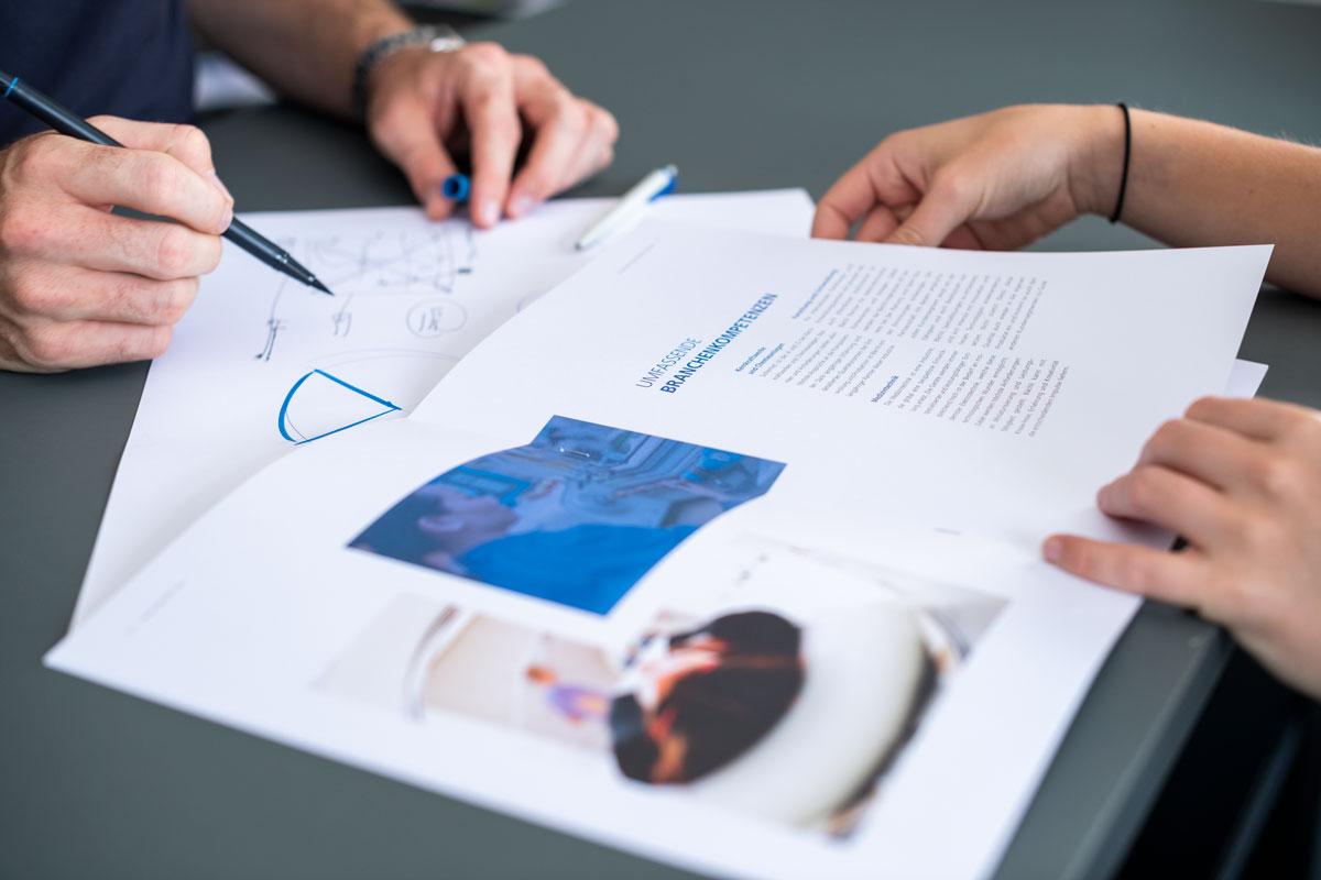 Erarbeitung eines Konzepts für eine Imagebroschüre