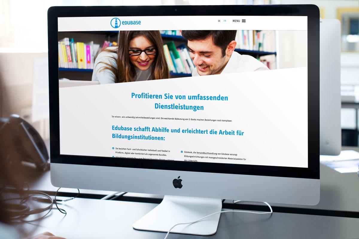 Der Headerbereich einer TYPO3 Website auf einem Screen dargestellt
