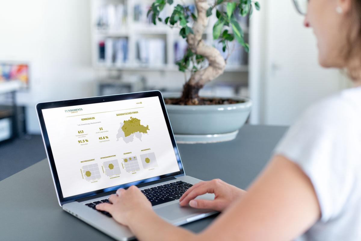 Übersicht der Responsive Corporate Website von Fundamenta