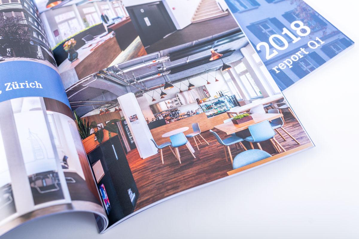 Bildgalerie im gedruckten Geschäftsbericht von PSP