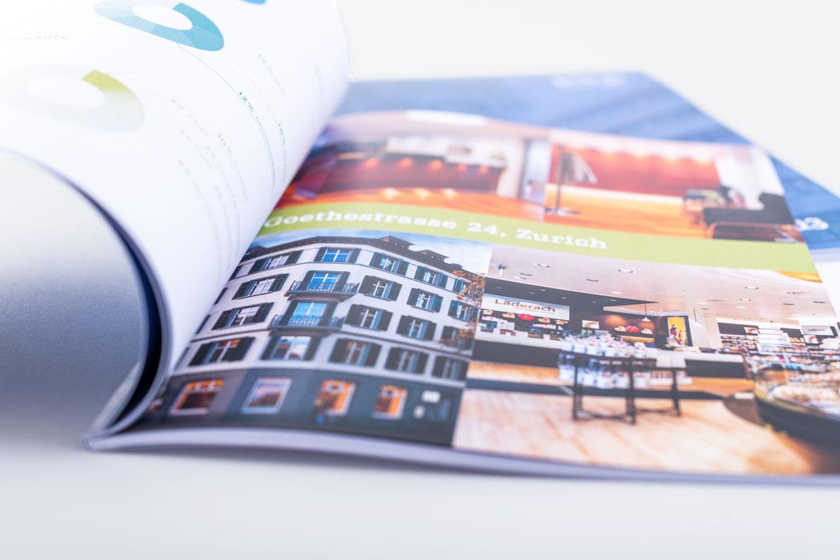 Bildergalerie im gedruckten Geschäftsbericht von PSP