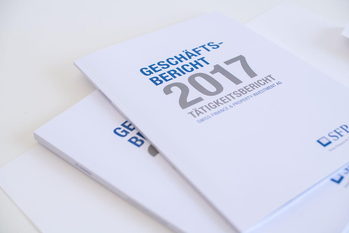 Geschäftsbericht 2017 von SFPI als Printprodukt