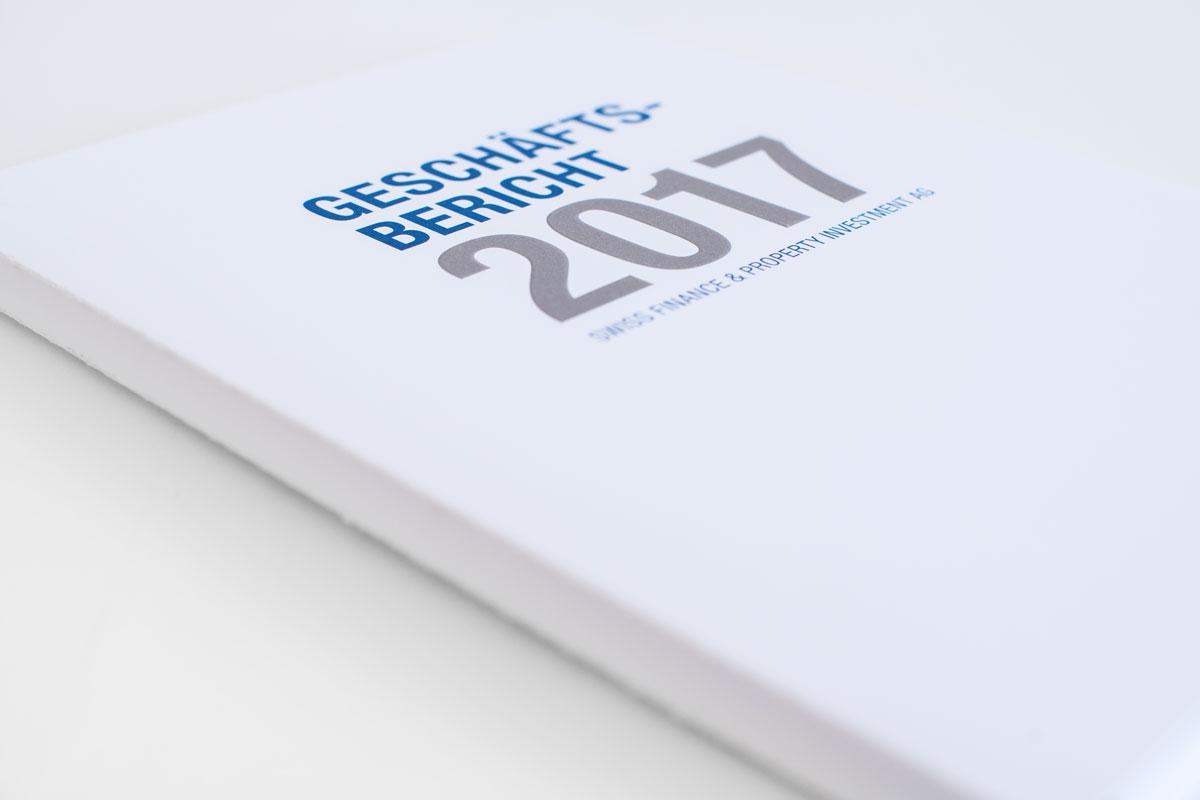 Titelseite des SFPI Tätigkeitsberichts von 2017