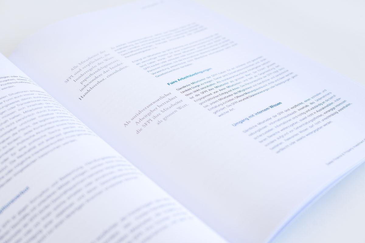 Textausschnitt aus dem SFPI Geschäftsbericht 2017