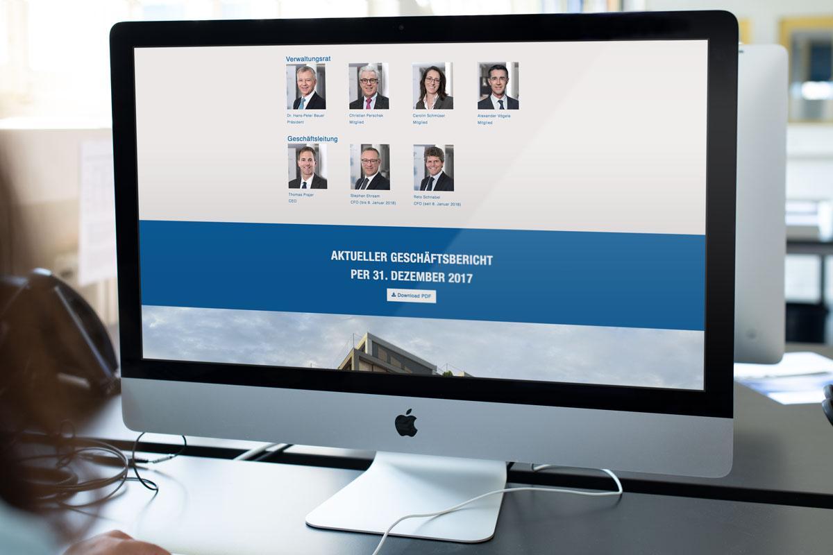 Darstellung des Download des Online Geschäftsberichts von SFP