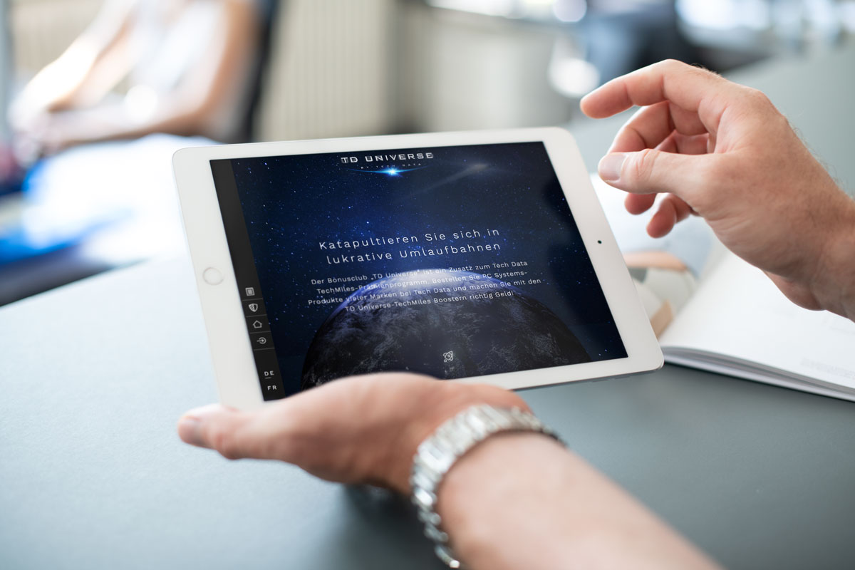 TYPO3 CMS Website auf einem Tablet dargestellt